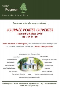 Villa Pagnon : Journée Portes Ouvertes 28 mars 2015